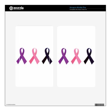 Professional Business Hand painted cancer ribbons decal for kindle fire