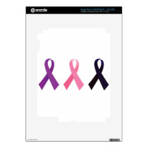 Hand painted cancer ribbons iPad 3 decal