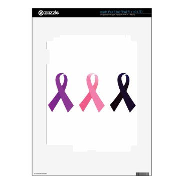 Professional Business Hand painted cancer ribbons iPad 3 decal