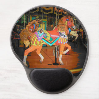 Hand Painted Carousel Horse Gel Mouse Pad