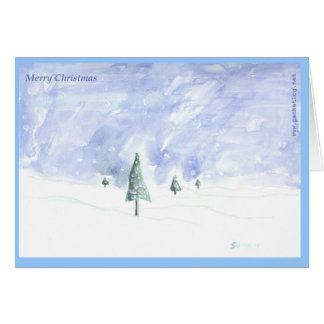 Hand-painted Christmas Greeting Card 01