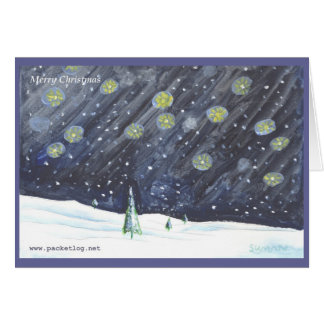 Hand-painted Christmas Greeting Card 03