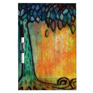 Hand Painted Colorful Tree of Life Dry-Erase Board