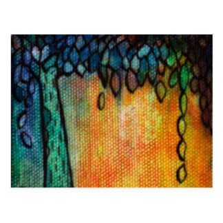 Hand Painted Colorful Tree of Life Postcard
