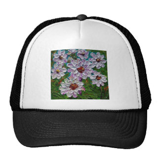 Hand painted Dahlia flowers Hats