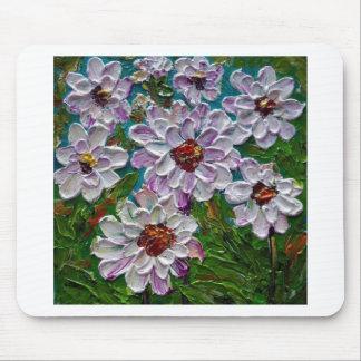 Hand painted Dahlia flowers Mousepad