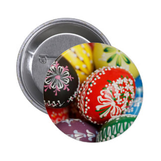 Hand-painted Easter Eggs Pinback Button