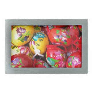 Hand-painted-Easter-eggs Rectangular Belt Buckle