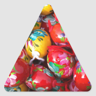 Hand-painted-Easter-eggs Triangle Sticker