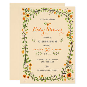 Sunflower baby shower invitations announcements zazzle hand painted floral sunflower boho baby shower invitation filmwisefo
