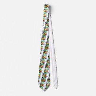 HAND PAINTED FLORAL TIE