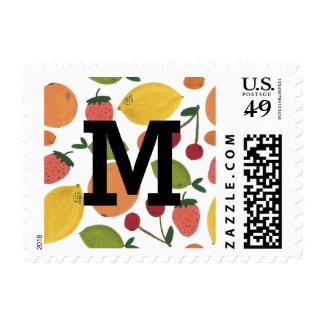 Hand Painted Fruit Postage Stamp