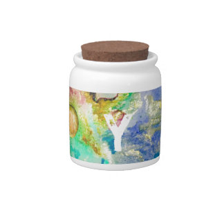 Hand Painted Galaxy Candy Jar