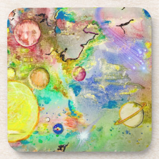Hand Painted Galaxy Coasters