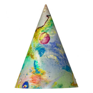 Hand Painted Galaxy Party Hat