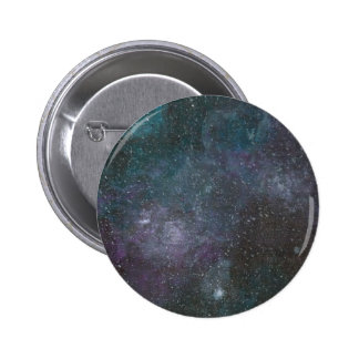 Hand painted galaxy print button