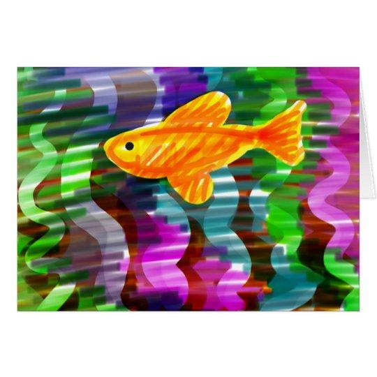 Hand-Painted Goldfish + Vivid Colors Card