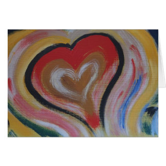 Hand Painted Heart Note Card - Color My Heart