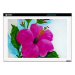 Hand Painted Hibiscus flower Decals For Laptops