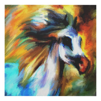 Hand Painted Horse Panel Wall Art