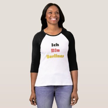 Beach Themed Hand Painted Ich Bin Berliner I am Berlin - German T-Shirt