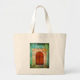 Hand Painted Jesus Christ Icon Door Greek Orthodox Canvas Bag