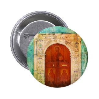 Hand Painted Jesus Christ Icon Door Greek Orthodox Pins