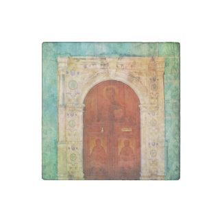 Hand Painted Jesus Christ Icon Door Greek Orthodox Stone Magnet
