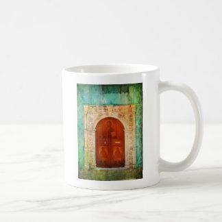 Hand Painted Jesus Christ Icon Door Greek Orthodox Coffee Mugs