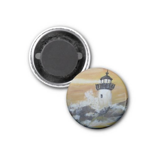 HAND PAINTED LIGHTHOUSE  MAGNET