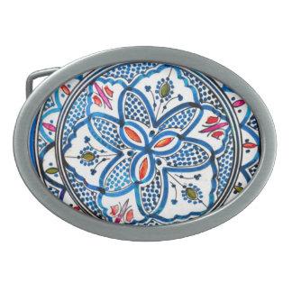 Hand Painted Moroccan Belt Belt Buckle