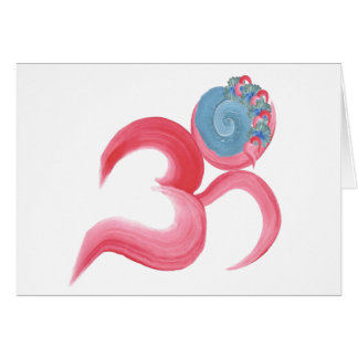 Hand Painted Om Card