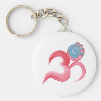 Hand Painted Om Keychain