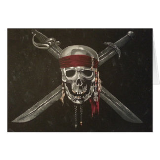 Hand Painted Original Pirate Blank Card