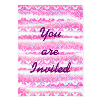 Hand-Painted Pink Watercolor Girly Waterlilies 5x7 Paper Invitation Card