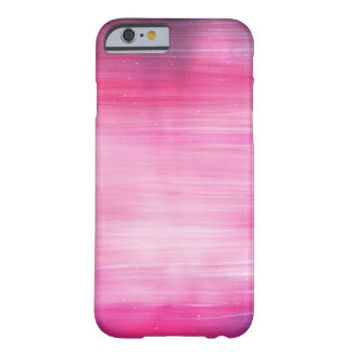 Hand Painted Pretty Pink And Purple Galaxy Effect Barely There iPhone 6 Case