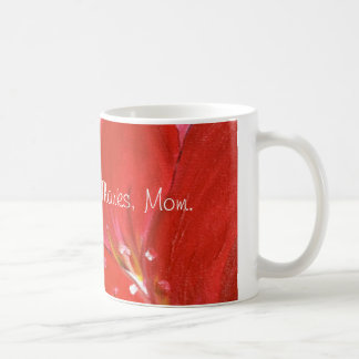 Hand-painted Red Flower Mother's Day Mug