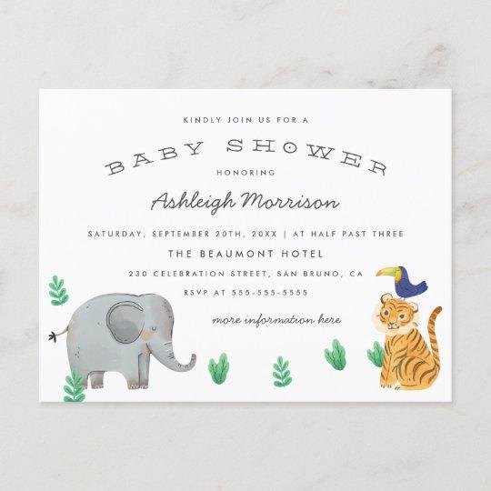 Modern Baby Shower Invitation Postcard