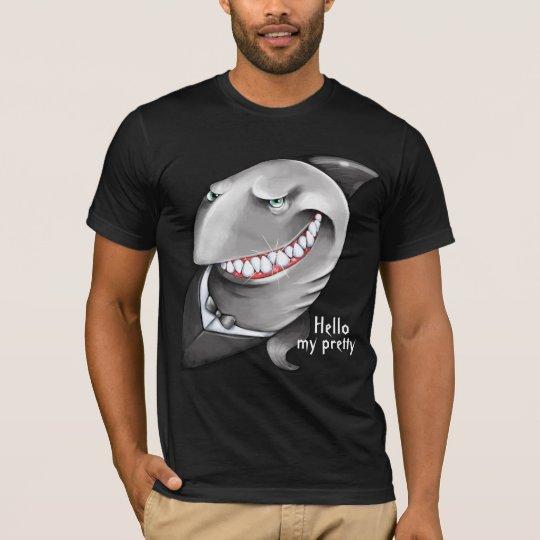 Hand painted Sly Shark (big smile, tuxedo) T-Shirt