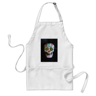 "Hand Painted Sugar Skull ""Ajax"" Aprons"