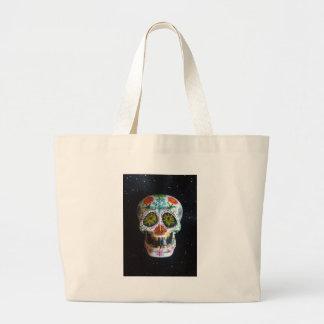 "Hand Painted Sugar Skull ""Ajax"" Bags"