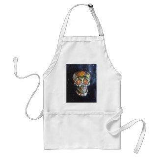 "Hand Painted Sugar Skull ""Gerald"" Apron"