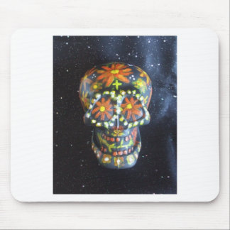 "Hand Painted Sugar Skull ""Gerald"" Mouse Pad"