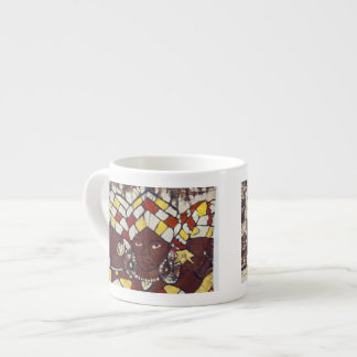 Hand painted textiles depicting every day espresso cup