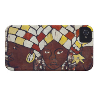 Hand painted textiles depicting every day iPhone 4 case