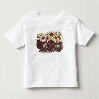 Hand painted textiles depicting every day toddler t-shirt