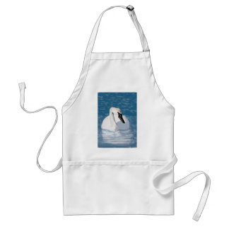 Hand Painted Trumpeter Swan Adult Apron