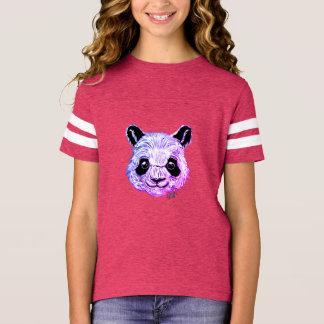 Hand Painted Twilight Panda Girl's Football Shirt
