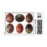 Hand Painted Ukrainian Easter Eggs Stamp