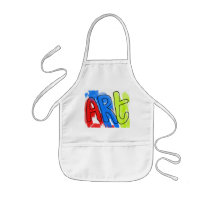 Hand Painted Watercolor ART Colorful Artist Kids' Apron